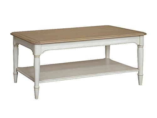 Get Etienne Shabby Chic Oak Coffee Table on Amazon