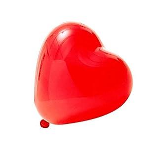 logei® 100St Herz-Luftballons Liebe Herz Luftballons Herzballons Ballons Deko für Valentinstag, Verlobung, Hochzeit (Rot)