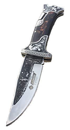 AUVEX wunderschönes Waidmannsheil Jagd Taschenmesser Messer Klappmesser Faltmesser mit Jäger und Hund Motiv Zweihandmesser sehr scharf - Dear Hunter Knife Pocketknife Outdoor Survival