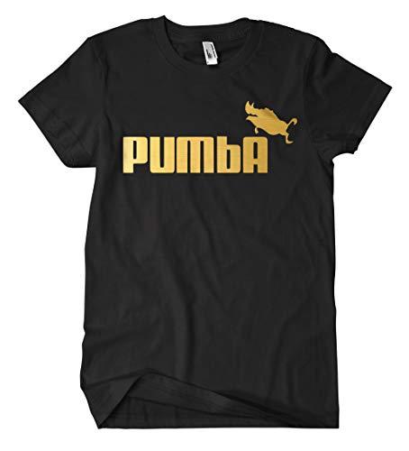 Pumba T-Shirt (L, Schwarz/Gold) -