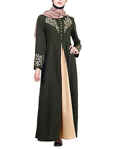 658e1e9ae511 besbomig Musulmán Islámicas Abaya Vestido Mujeres - Elegante Kaftan Manga  Larga Ropa Dubai Cardigan Turca Árabe