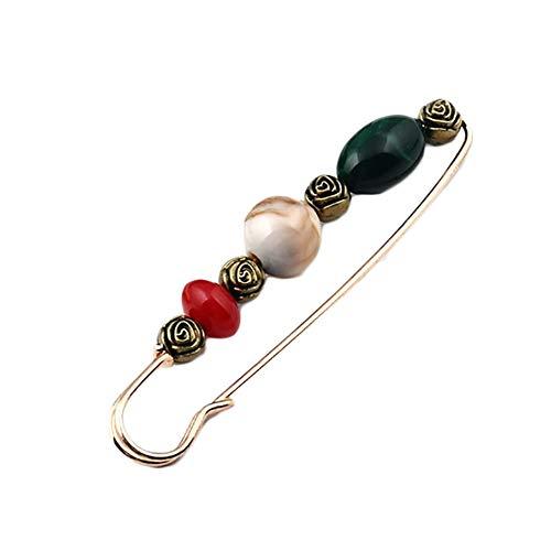 Outflower. 1pcs Retro Perline Spilla Maglione Sciarpa Fibbia Donna Spilla squisita Accessori di Abbigliamento Gioielli Partito Ideale