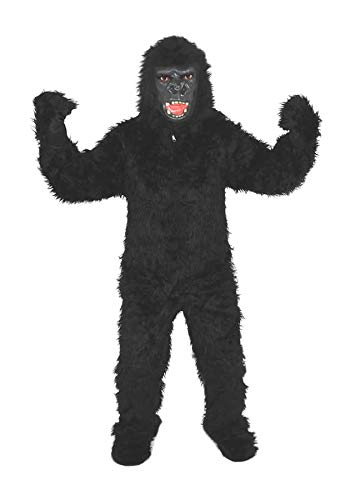 Gorilla Schwarz Einheitsgrösse L-XL Kostüm Fasching Karneval Fastnacht Motto Party ()