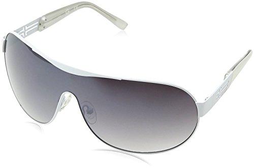 Guess Herren GGU2037WHT-35F Sonnenbrille, Silber (Niquel), 0