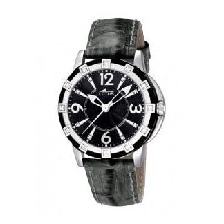 Lotus 15745/4 – Reloj analógico de cuarzo para mujer con correa de piel, color negro