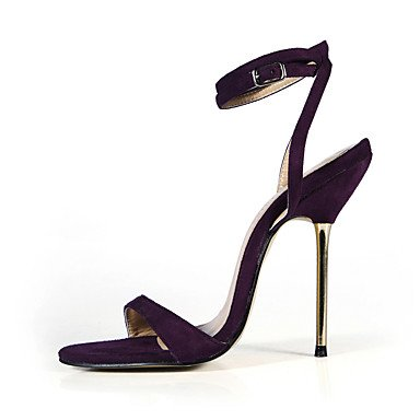 LFNLYX Donna Sandali Estate cinturino alla caviglia Velvet Party & abito da sera Casual Stiletto Heel Nero Blu Verde viola scuro Grigio scuro Black