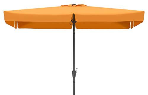 Schneider Sonnenschirm New York Mandarine 270x150 Cm Rechteckig Gestell Aluminium Stahl
