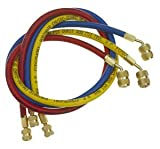Wisepick A/C Charging Hoses Tube for R134a R410a R12 R22 Air Conditioning Refrigerant 1/4' Thread Hose 5ft.
