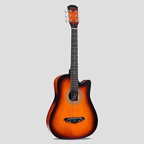 k-Akustikgitarre Hochwertige Buche Anfänger üben Young Boys Girls Gitarre mit Bag Strap String Tuner Capo Poliertuch ( Color : Sunset ) ()