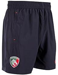KUKRI Leicester Tigres 2017/18 Jugadores Rugby Shorts de entrenamiento - azul marino