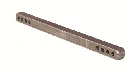 Poignée de Porte pièces : Axe percé, 7 mm x 80 mm