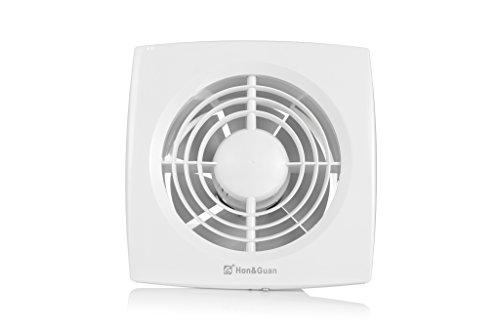 Abluftventilatoren Bad Lüftung (Hon&Guan Ø150 mm Badlüfter Ultra-leise mit Effiziente Lüftung ,Ultra-dünner Abluftventilator für Küche / Badezimmer / Schlafzimmer / Büro (D-150mm))
