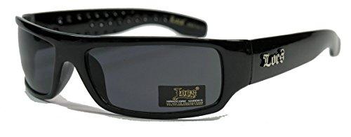 LOCS® Herren Sonnenbrille West Coast Gangsta Style schmal dunkle Gläser Thug Mobster