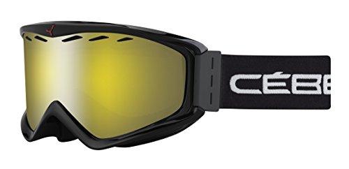 Cébé Unisex Erwachsene Skibrille Infinity OTG Black/Yellow Flash Mirror