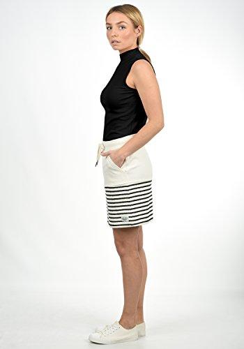 DESIRES Pippa Damen Kurzer Rock Sweatrock Minirock mit Streifen-Muster aus 100% Baumwolle
