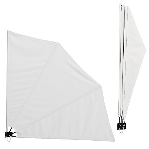 [casa.pro] Balcon - parasol murale(blanc)(160 x 160 cm) protection anti-regards/ store pliable