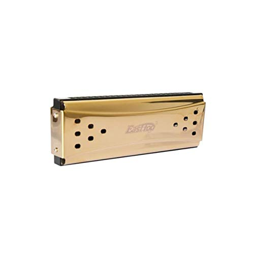 CHUJIAN Harmonica 24-Loch erweitert Tremolo Doppelseitige Mundharmonika, C & Gdrücken, Gold, Geeignet for Anfänger Selbststudium Praxis, Advanced Learning, Solo Creation ( Color : Gold-tremolo-24h )