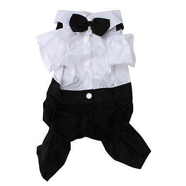 Imagen de perros disfraces esmoquin negro ropa para perro invierno primavera/otoño bloques boda cosplay , schwarz/weiß alternativa