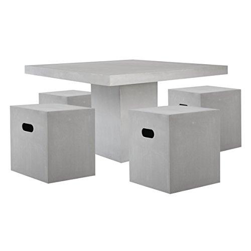 Matodi Gartenmöbel Set 5 teilig Sitzgruppe Betonmöbel