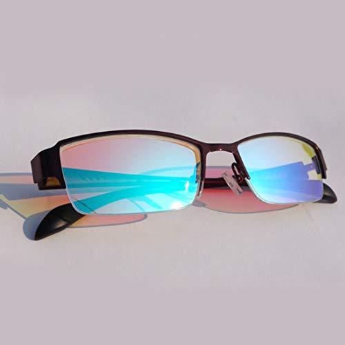 Gafas de corrección de daltonismo para daltónico rojo verde, para Deutan Suave y protano Ceguera de color moderada Trastorno de visión de color Debilidad de color Unisex