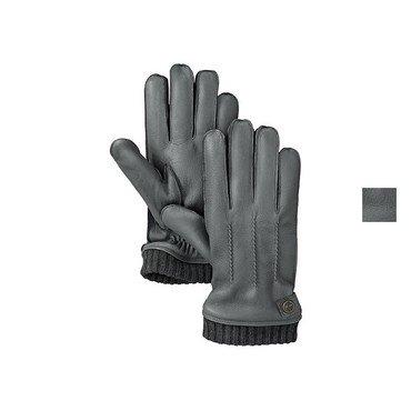 Timberland Leather Glove W/ Rib Dark Shadow S (Glove Dark Shadow)