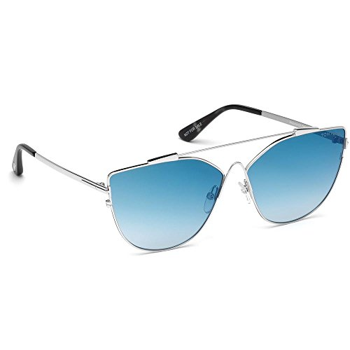 Tom Ford Damen Ft0563-18X-Silber Sonnenbrille, Silber, 64