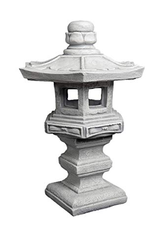 massive pietra giapponese lanterna di pietra tachi-gata oki gata lanterna ghisa frostfest