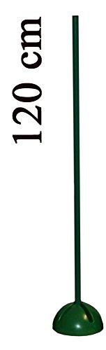 Bild von: Agility Hundesport - X-Standfuß mit Stange 120 cm, Ø 25 mm, Farbe: grün