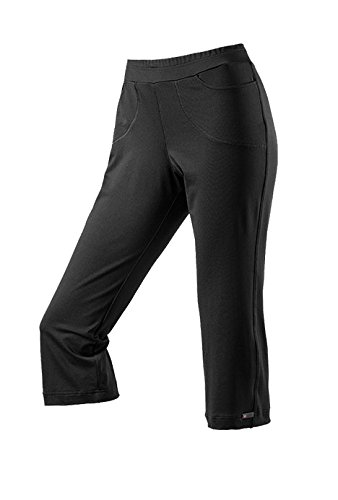 Michaelax-Fashion-Trade - Pantalon de sport - Capri - Uni - Femme Noir (999)