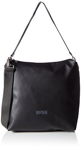 BREE Punch 702, black, cross shoulder M 83900702 Damen Umhängetaschen 30x12x32 cm (B x H x T), Schwarz (black 900)