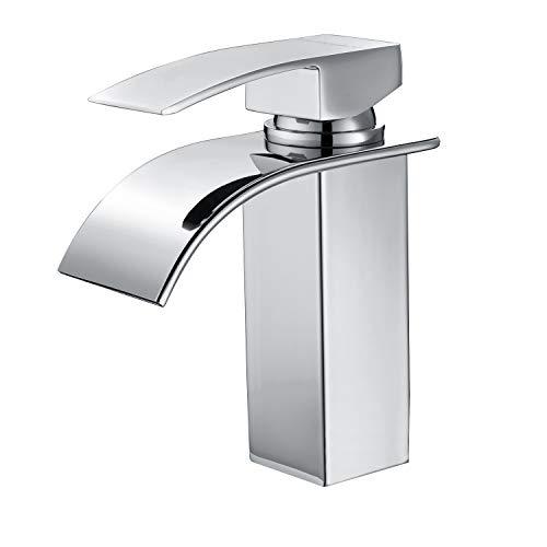 Charmingwater Wasserfall Wasserhahn Waschbecken Einhebelmischer Waschtischarmatur Waschbeckenarmatur für Badezimmer