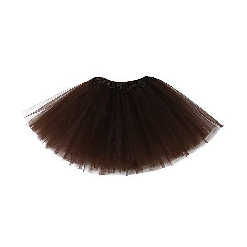 Lazzboy ragazze tutù tutu tulle balletto gonna strati principessa dress-up danza indossare per 2-7 anni costume festa kids(2-7 anni,caffè)