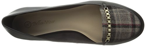 Bella Vita Thora Femmes Large Synthétique Chaussure Plate Black-Stone