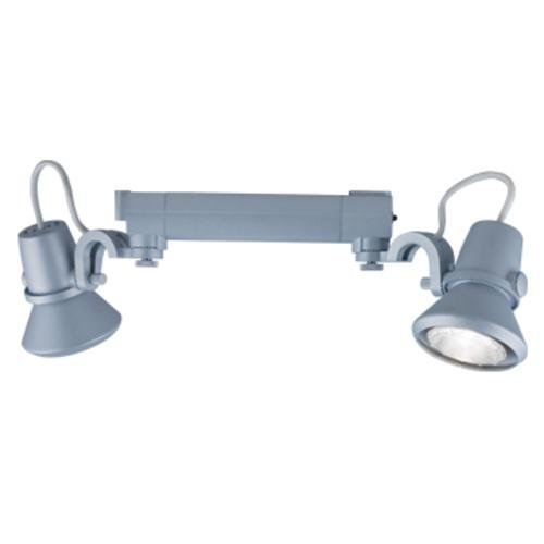 Jesco Lighting HHV904P20-S Contempo 904 Series Line Voltage Track Light Fixture, PAR20, Silver Finish by Jesco Lighting Group -