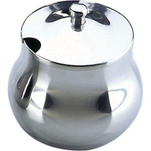 Olympia Arabian Sucrier en acier inoxydable 368,5 gram 370 ml Plat de cuisine de restaurant
