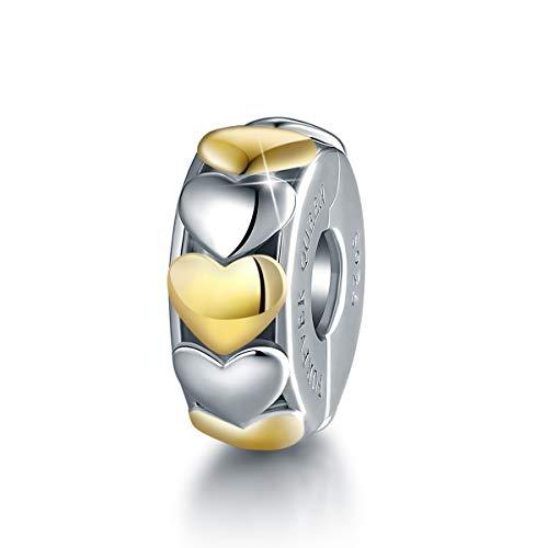 Forever queen original bead charms,argento sterling 925 a forma di cuore simbolo dell'intervallo charms clip di fissaggio bead per pandora, bracciale europeo fq0055
