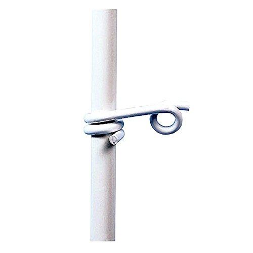 Kerbl 100 Stück Kunststoff-Ösen Weiss geeignet für Litze und Band bis 10 mm Weidezaun