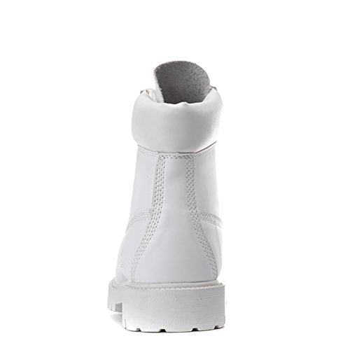 Insun Unisex Erwachsene Stiefel Derby Schnürhalbschuhe Kurzschaft Stiefel Winter Boots Weiß (Warm gefütterte)