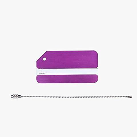 Tinksky Etichette alluminio bagagli bagagli borsa borsa per viaggi (viola)