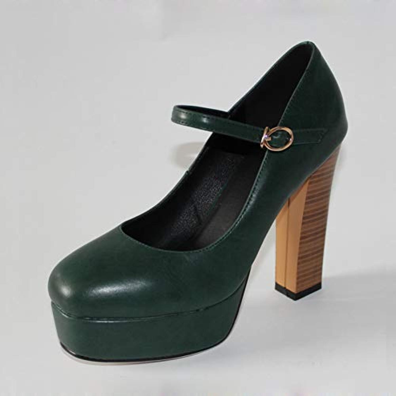 Ai Ya-liangxie Dimensioni 32-42 Donne Mary Mary Mary Jane Scarpe Classic Vintage Thick High Heels Square Toe Pompe Piattaforma... | Primo gruppo di clienti  8b39a7