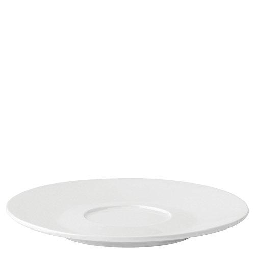 Utopia Anton Noir en porcelaine fine Z03294-000000-b01006 Coupé Soucoupe, 14,6 cm (lot de 6)
