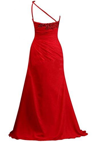 Sunvary in Chiffon, da donna, elegante, abiti da damigella d'onore, senza spalline Rosa