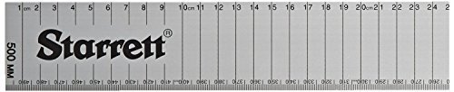 Starrett AMSE-500 Aluminum Straight Edge Flat Rule, 19.69 Length by Starrett