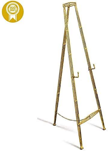 ZFFSC Chevalets for l'art, chevalets en fer forgé mariage Bienvenue Chevalet, Au sol d'or photo Support de cadre, Support de levage Peinture européenne huile Rack, L (Size : Small)