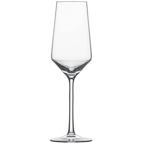 Schott Zwiesel 112418 Serie Pure 6-teiliges Champagnerglas Set, Kristallglas