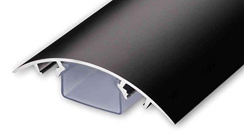 TV Design Aluminium Kabelkanal in schwarz stumpfmatt lackiert in verschiedenen Längen von ALUNOVO (Länge: 30cm)