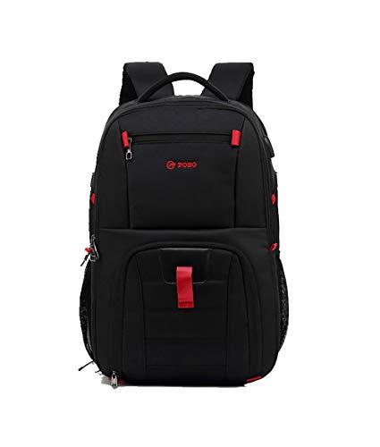 JJFJ Reise-Laptop-Rucksack, wasserdichte Universitäts-Campus-Computer-Tasche, Passend Für Männer Und Frauen, Passend Für 15,6-Zoll-Laptops,Black -