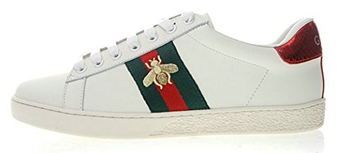 Gucci Ace Embroidered Little Bee White Chaussure de Homme Femm