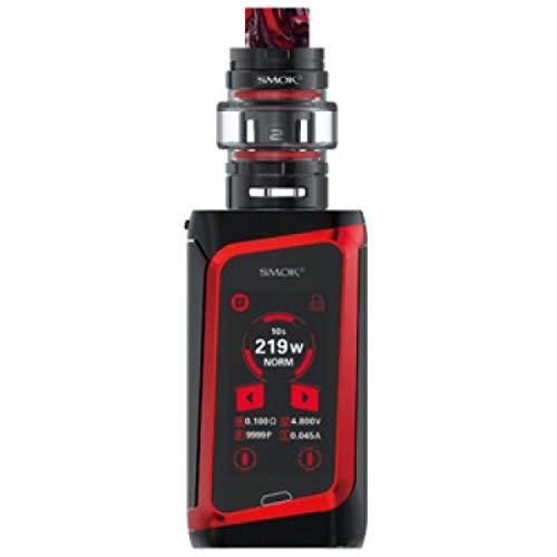 Original SMOK Morph 219W TC Starter Kit Eingebaute Mod mit 6ml TF Tank E-Zigarette Verdampfer Kein Nikotin (Schwarz und Rot)