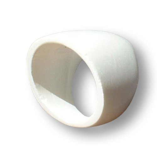 ISLAND PIERCINGS Design Ring Weiss aus Büffelknochen organisch Handarbeit AR024